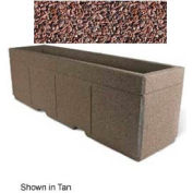 "Concrete Outdoor Planter w/Forklift Knockouts, 96""Lx24""W x 30""H Rectangle Red Quartzite"