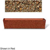 "Concrete Outdoor Planter  72""L x 16""W x 15""H Rectangle Tan River Rock"