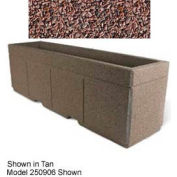 "Concrete Outdoor Planter w/Forklift Knockouts, 96""Lx30""W x 36""H Rectangle Red Quartzite"