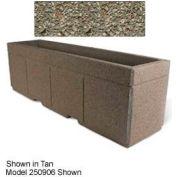 "Concrete Outdoor Planter w/Forklift Knockouts, 96""Lx30""W x 36""H Rectangle Gray Limestone"