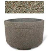 "Concrete Outdoor Planter w/Forklift Knockouts, 48""Dia x30""H Round Gray Limestone"