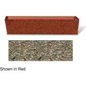 "Concrete Outdoor Planter  72""L x 16""W x 15""H Rectangle Gray Limestone"