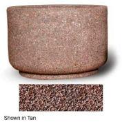 """Concrete Outdoor Planter 36""""Dia x 24""""H Round Red Quartzite"""