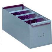"Lyon Steel Shelf Box DD8116 - 5-21/32""W x 11-1/4""D x 4-5/16""H, Gray"