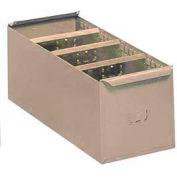 """Lyon Steel Shelf Box PP8116 - 5-21/32""""W x 11-1/4""""D x 4-5/16""""H, Putty"""