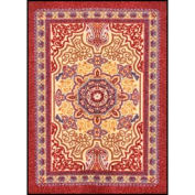 """Orientrax Entrance Rug 3' x 5'-3/8"""" Thick Burgundy"""