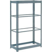 """Global Industrial™ Heavy Duty Shelving 48""""W x 24""""D x 60""""H With 4 Shelves - No Deck - Gray"""