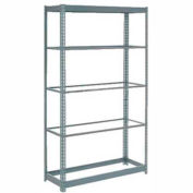 """Global Industrial™ Heavy Duty Shelving 48""""W x 24""""D x 96""""H With 5 Shelves - No Deck - Gray"""