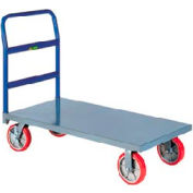 Little Giant® Heavy Duty Platform Truck NBB-2436-8PYBK, 24 x 36, Poly Wheels, 3600 Lb. Cap.