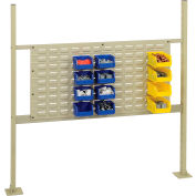 """Completed Panel Kit for 48""""W Workbench with 36""""W Louver, Mounting Rails & Uprights - Tan"""