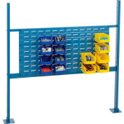 """Risers With 48"""" Workbench Louver Panel Blue"""