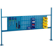 """Risers With 72"""" Workbench Louver/Pegboard Panel Blue"""