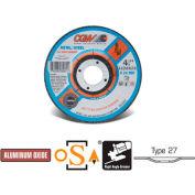 "CGW Abrasives 35612 Depressed Center Wheel 4-1/2"" x 1/8"" x 7/8"" Type 27 24 Grit Aluminium Oxide - Pkg Qty 25"