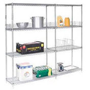 "Nexel Poly-Z-Brite Wire Shelving Add-On 54""W x 14""D x 63""H"