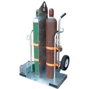 Vestil Galvanized Welding Cylinder Cart CYL-2-FF-G Foam Filled Wheels 28 x 37-1/2 x 69-1/8