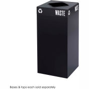 Public Square® Steel Recycling Container - 31 Gallon Black