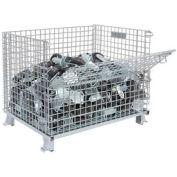 "Nashville Wire Folding Wire Container GC324028S4 40x32x34-1/2 2"" Mesh Size 3000-4000 Lb. Cap"