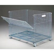 "Folding Wire Container GC404836S4 48x40x42-1/2 3000-4000 Lb. Cap. Drop Gate 48""Side"