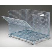 "Folding Wire Container GC404836S4 48x40x42-1/2 3000-4000 Lb. Cap. Drop Gate 48""Side"