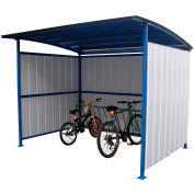 "Steel Bicycle Storage Shelter With Bike Street Rack 120""x 96""x 91"""