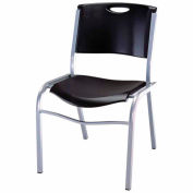 Lifetime® Stacking Chair, Black, Pack of 14