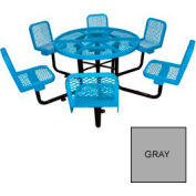 "46"" Round Table with Chairs, Surface Mount, Expanded Metal - Gray"