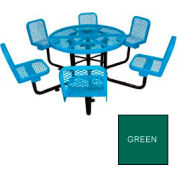 "46"" Round Table with Chairs, Surface Mount - Green"