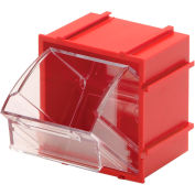 Quantum Tip Out Interlocking Bin QTB409 2-1/2 x 2 x 2-3/4 Red - Pkg Qty 9
