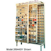 Quantum Gondola QS-569-56 Free Standing Slider System With 56 Variety Bins White