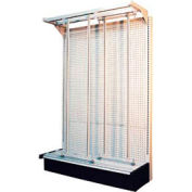 Quantum Gondola G-725569-56 Slider System with 56 Various Tip Out White Bins