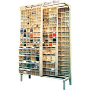 Quantum Gondola QS-569-56 Free Standing Slider System With 56 Variety Bins Ivory