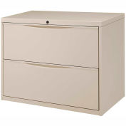 Interion™ 36= Premium Lateral File Cabinet 2 Drawer Putty