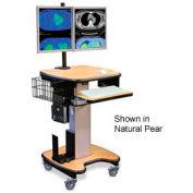 """Telescopic Cart™ w/ Wire Basket - Mahogany 24""""W x 24""""D x 28""""H"""