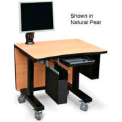 "Single Tier Cart™ Rectangular w/ Back Panel - Putty 36""W x 30""D x 36""H"