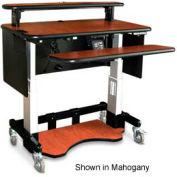 "Single Tier Cart™ Rectangular w/ Metal Panel - Black 48""W x 24""D x 36""H"