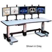 """Single Tier Cart™ Rectangular - Putty 84""""W x 24""""D x 44""""H"""