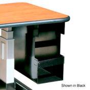 "CPU Desk Mount Bracket With Lock - Grey 8-1/2""W X 21-1/2""D X 25-1/4""H"