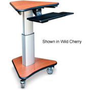 "Telescopic Cart™ w/ Keyboard Tray - Black 30""W x 24""D x 36""H"