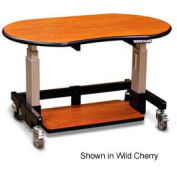 "Single Tier Cart™ Rectangular - Mahogany 48""W x 30""D x 36""H"