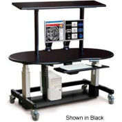 "Single Tier Cart™ Rectangular w/ Top Shelf - Grey 60""W x 30""D x 36""H"