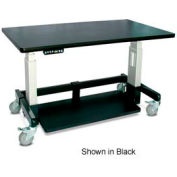 "Single Tier Cart™ Rectangular - Putty 48""W x 24""D x 36""H"