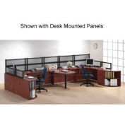 2 Person Workstation with Peninsula Table without Panels