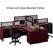 Storlie 2 Person L-Desk Workstation without Panels