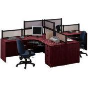 Storlie 2 Person L-Desk Workstation with Desk Mounted Panels