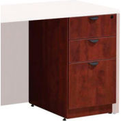 Storlie Box/Box/File Cherry Laminate Pedestal - Full Unfinished Top