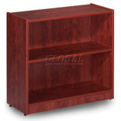 "30""H Cherry Laminate Bookcase with 1 Adjustable Shelf"
