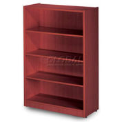 "48""H Cherry Laminate Bookcase with 3 Adjustable Shelves"