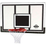 "Lifetime® 54"" Steel-Framed Basketball Backboard with Slam-It Pro Rim"