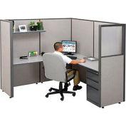 "Single Radius Corner Workstation, 75""W x 75""D x 66""H"