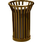 Wydman Urn Basket with Black Galvannealed Liner - Brown